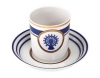 Russian Porcelain Porcelain Tea Cup with Saucer Navy Style #5 7.4 oz/220 ml