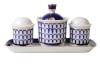 Lomonosov Porcelain Spice set Classic of Petersburg:Tray, Salt Cellar,Pepper box, Sauceboat
