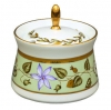 Russian Porcelain Porcelain Dressing Bowl with Lid Cobalt Net 6.8 fl.oz/200 ml
