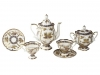 Lomonosov Porcelain Coffee Set Natasha Fantastic Butterflies 14 pcs 6/14: Coffee Pot, Sugar Bowl, 6 Cups with Saucers