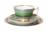 Imperial Lomonosov Porcelain Tea Set Cup, Saucer and Dessert Plate Alexandria Golden 52 8.4 oz/250 ml