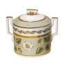 Lomonosov Imperial Porcelaine Sugar Bowl Jade Background 13.5 oz/400 ml