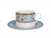 Imperial Lomonosov Porcelain Tea Set Cup and Saucer Pole Turquoise 8.45 oz/250 ml