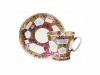 Lomonosov Porcelain Imperial Bone China Cup and Saucer Floral Background 2.71 fl.oz/80 ml