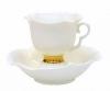 Lomonosov Exclussive Bone China Tea Set White Flower 2pc 6.8 oz/200 ml