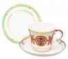 Lomonosov Porcelain  Byzantium Tea Set 3pc
