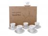 Lomonosov Porcelain Bone China Black Coffee 6 Tea/Coffee Cups Set Little Prince 2.7 oz/80ml