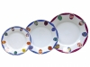 Easter Porcelain Salad and Dessert Plates Set 3 pc Amethyst