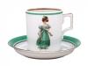 Porcelain Tea Cup 7.4 oz/220 ml Paris Style 1830 Lomonosov Imperial Factory