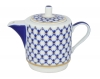 Lomonosov Imperial Porcelain Gift Set Solo Teapot and Tea Cup Cobalt Net