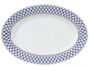 "Lomonosov Porcelain Oval Serving Platter Cobalt Net 14.2""/360mm"