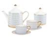 Bone China Porcelain Tea Set Service Azur