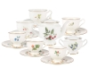 Lomonosov Porcelain Bone China Tea Set Flowers and Berries