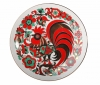 "Decorative Wall Plate Red Rooster 7.7""/195 mm Lomonosov Imperial Porcelain"