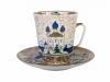 Bone China Cup and Saucer May Old Russia 5.6 fl.oz/165 ml