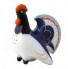 Lomonosov Imperial Porcelain Salt Pepper Shaker Cobalt Rooster