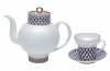 Buy Bone China Wave Cobalt Net teapot and get Bone China Tea Cup Wave Cobalt Net for FREE!