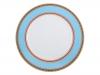 """Lomonosov Porcelain Dinner Plate European-2 Turquoise 9.8""""/250 mm"""