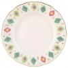"Lomonosov Imperial Porcelain Cake Dessert Plate Tulip Peacock's Feather 7""/180 mm"