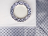 "Russian Porcelain Lomonosov Tablecloth Cobalt Net 70""x90"" Blue-Gray"