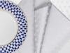 "Lomonosov Porcelain Lomonosov Gift Set 6 Napkins Cobalt Net 17.7x17.7"" Silver"