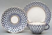 Lomonosov Porcelain Tea Set Cobalt Net 3 pc. Image #1