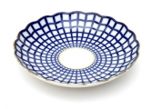 Imperial Porcelain Cobalt Cell Cake Dish