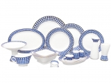 Lomonosov 24-piece Cobalt Cell Dining Set for 6