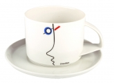 Russian Porcelain Tea Cup and Saucer Suprematism Stenberg 10 oz/295 ml