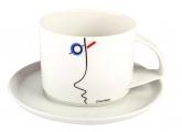 Russian Porcelain Tea Cup and Saucer Suprematism Stenberg 10 oz/295 ml