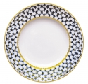 "Lomonosov Porcelain Flat Plate Tulip Cobalt Net 9.4""/240 mm"