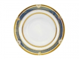 "Lomonosov Soup Plate European Golden 52 8.9""/225 mm"