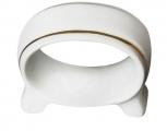 Lomonosov Imperial Porcelain Napkin Ring Youth Golden Ribbon