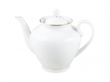 Lomonosov Imperial Porcelain Teapot Spring Snow White 27 oz/800 ml