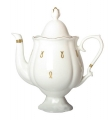 Lomonosov Imperial Porcelain Bone China Coffee Pot Natasha Eyelets 21.3 fl.oz/630 ml