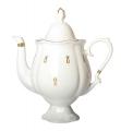Lomonosov Imperial Porcelain Bone China Coffee Pot Natasha Eyelets 21.3 fl.oz/630 ml