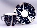Lomonosov Imperial Porcelain Espresso Coffee Set 2p Tulip Winter Night 4.7oz
