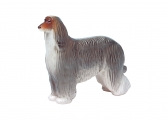 Afghan Hound Dog Lomonosov Imperial Porcelain Figurine