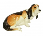 Basset Hound Dog Lomonosov Imperial Porcelain Figurine