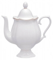 Lomonosov Imperial Porcelain Bone China Coffee Pot Natasha Golden Ribbon 21.3 fl.oz/630 ml