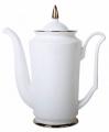 Lomonosov Imperial Porcelain Bone China Porcelain Coffee Pot Julia Golden Ribbon 23.3 fl.oz/690 ml