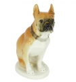 Boxer Dog Lomonosov Imperial Porcelain Figurine
