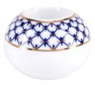 Lomonosov Porcelain Round Candle Holder Cobalt Net