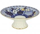 "Lomonosov Imperial Porcelain Candy Vase Chuch Bells 7.6"" D"