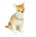 Chihuahua Dog Sitting Lomonosov Imperial Porcelain Figurine