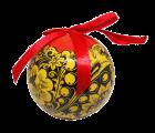 Christmas New Year Tree Decorative Ball Golden Khokhloma