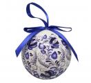Christmas New Year Tree Decorative Ball Gzhel 2
