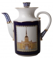 Lomonosov Imperial Porcelain Coffee Pot Banquet Classics of Saint-Petersburg 37 oz/1090 ml