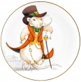 Decorative Wall Plate 2020 Year of RAT Gentleman Mouse