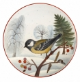 "Decorative Wall Plate Blue Tit 7.7""/195 mm Lomonosov Imperial Porcelain"